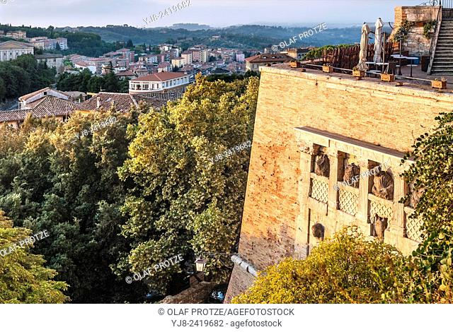 Rocca Paolina at the old town of Perugia, Umbria, Italy