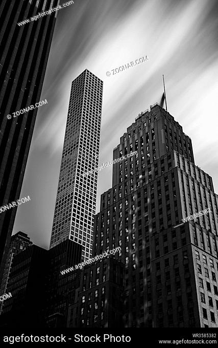 New York City - USA - DEC 17 2018: Fifth avenue skyscrapers and 450 Park Avenue in midtown Manhattan