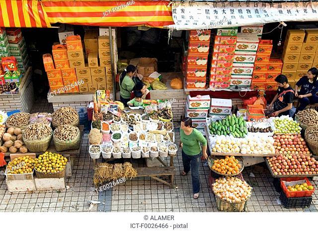 China, Yunnan, Xishuangbanna, Jinghong, market