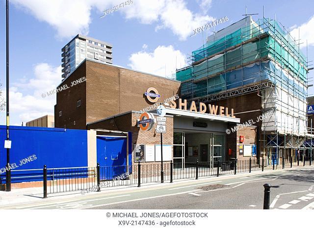 Shadwell Station, London Overground Railway, London