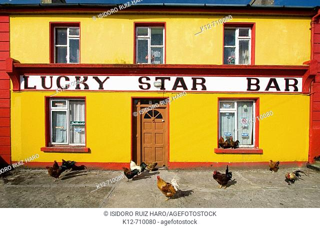 The Luchy Star Bar in Inishmore, the biggest of Aran Islands. Galway Co. Ireland