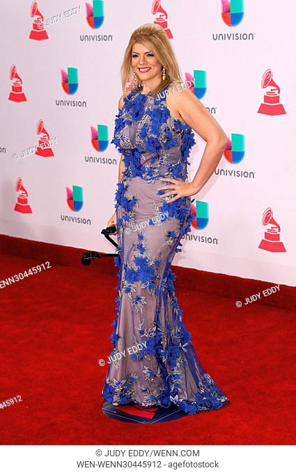 17th Annual Latin Grammy Awards Arrivals at T-Mobile Arena Las Vegas Featuring: Domenica Mena Where: Las Vegas, Nevada, United States When: 17 Nov 2016 Credit:...