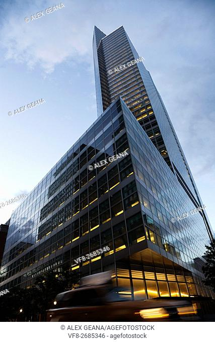 The Goldman Sachs global headquarters in New York City at 200 West St. Designed by Henry Cobb of Pei Cobb Freed & Partners