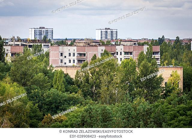 Pripyat ghost city of Chernobyl Nuclear Power Plant Zone of Alienation around nuclear reactor disaster in Ukraine
