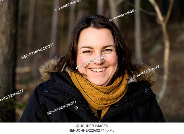 Portrait of happy woman