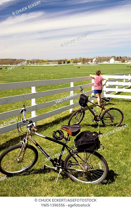 Farm Scenic during bicycle ride rest stop
