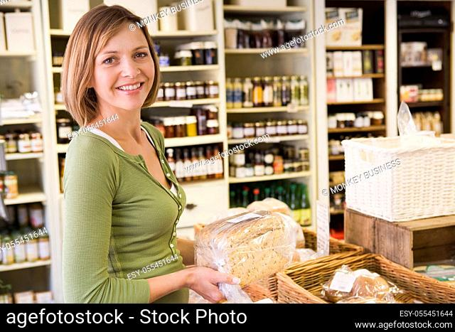 purchase, shopping, bread, customer, grocery store