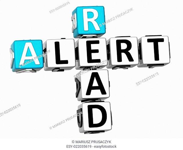 3D Read Alert Crossword