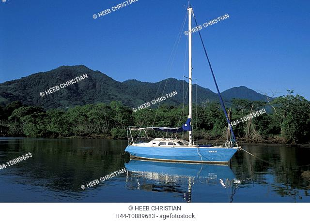 Ship, Inlet, Portobello resort, near Rio, Rio de Janeiro, Brazil, South America, water, sailing boat