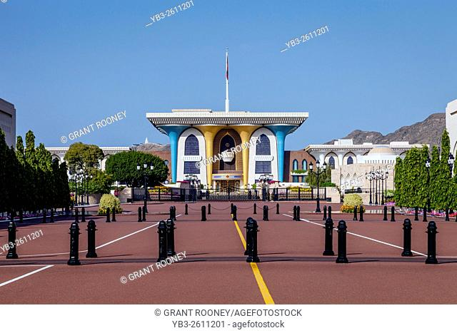 The Al Alam Palace (The Sultan's Palace) Muscat, Sultanate Of Oman