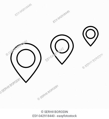 Location way it is black icon . Flat style