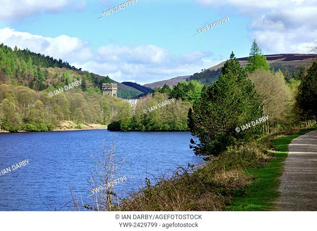 Looking across Derwent Reservoir at Howden Dam in the Peak District