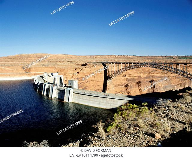 The Hoover Dam was completed in 1935, and was then the largest concrete structure in the world, and also the largest electric power producing facility