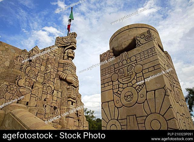 Monumento à la Patria, monument to honor the Mexican homeland by Colombian sculptor Rómulo Rozo in the city Mérida, Yucatán, Mexico
