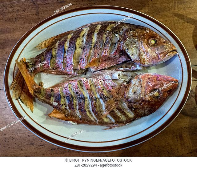 Fried fish. Cost Rica