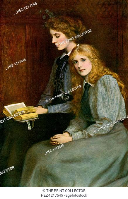 'The Sisters', 1900, (1912). A colour print from Famous Paintings, with an introduction by Gilbert Chesterton, Cassell and Company, (London, New York, Toronto
