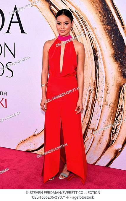 Jamie Chung (wearing Banana Republic) at arrivals for 2016 CFDA Fashion Awards, Hammerstein Ballroom at Manhattan Center, New York, NY June 6, 2016