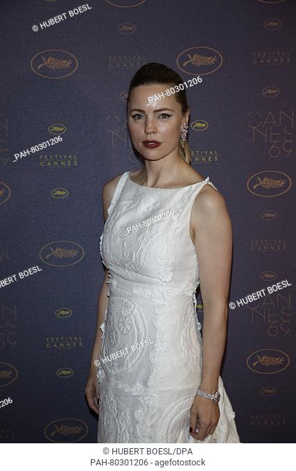 Actress Melissa George attends the Opening Gala Dinner during the 69th Annual Cannes Film Festival at Palais des Festivals in Cannes, France, on 11 May 2016