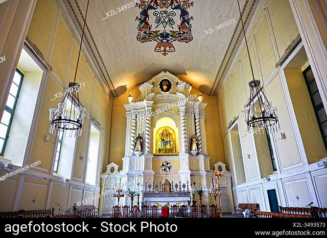 The High Altar in the St. Dominic's Church, first established in 1587. Macau, China