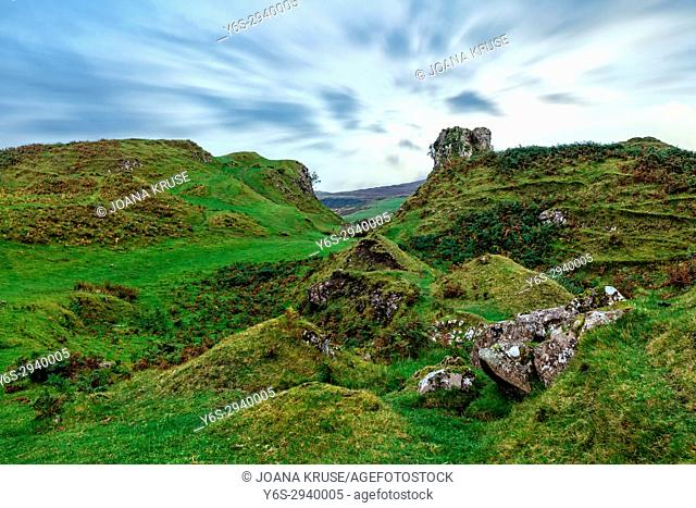 Fairy Glen, Isle of Skye, Scotland, United Kingdom