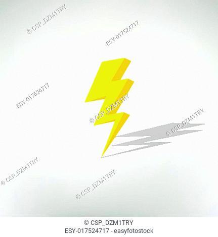 lightning icon. vector illustration