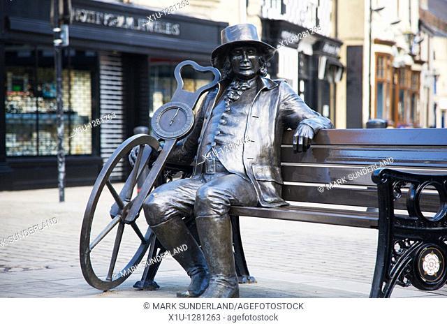 Blind Jack Statue by Barbara Asquith Knaresborough Yorkshire England
