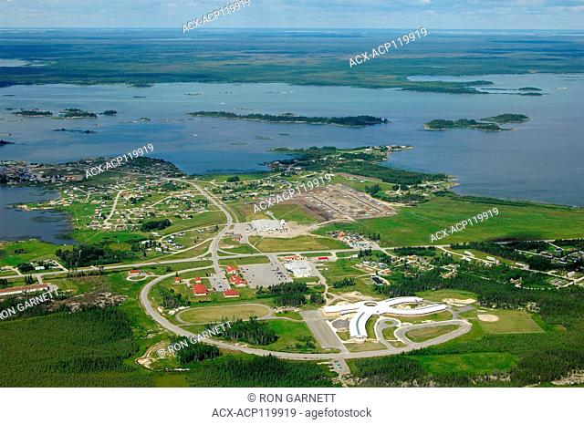 aerial, Norway House, Manitoba, Canada