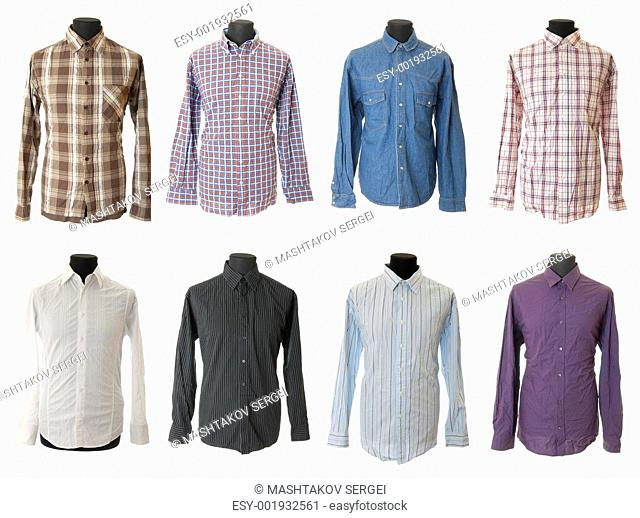 Male shirt collection 1 , Isolated