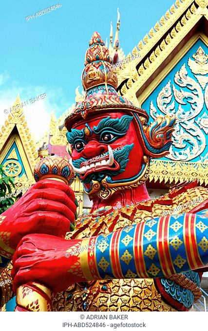 Thailand Phuket Phuket Town Guardian of the temple at Wat Khao Rang