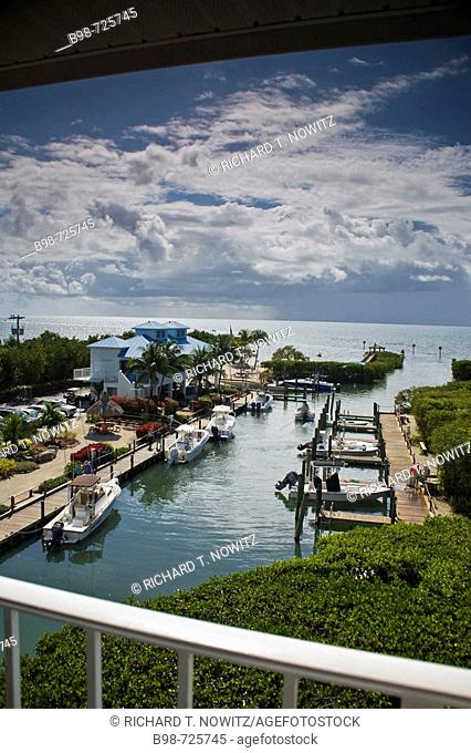 View from Suite #5406 at Ocean Pointe Resort,at Tavernier Key, Florida. USA