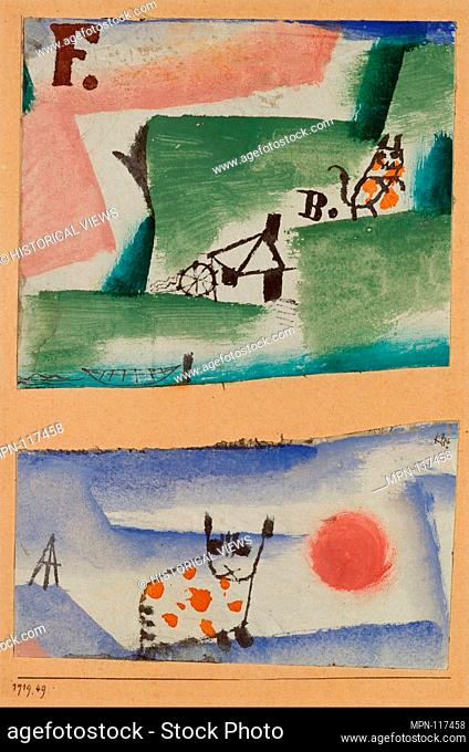 Tomcat's Turf. Artist: Paul Klee (German (born Switzerland), Münchenbuchsee 1879-1940 Muralto-Locarno); Date: 1919; Medium: Watercolor, gouache