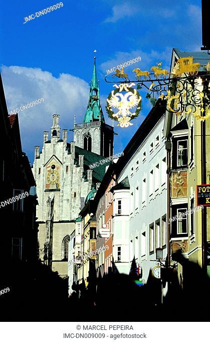 Austria, Tyrol, Schwaz, signs