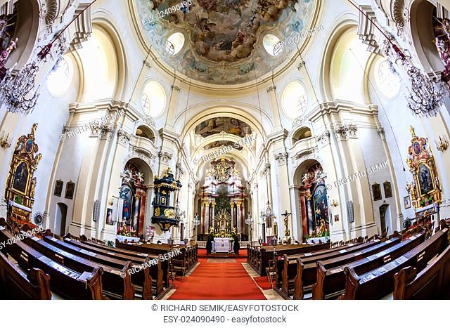 interior of pilgrimage church, Maria Dreieichen, Lower Austria, Austria