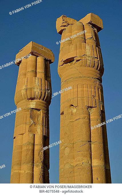Columns, Temple of Amun, Soleb, Northern state, Nubia, Sudan