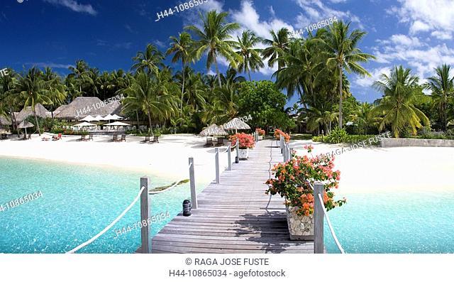 Tahiti, Society Islands, Bora Bora Island, Matira Beach, Intercontinental Resort