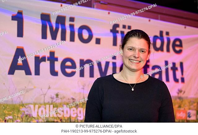 13 February 2019, Bavaria, Bayernweit: Agnes Becker, representative of the petition for a referendum and vice-chairwoman of the ÖDP Bavaria