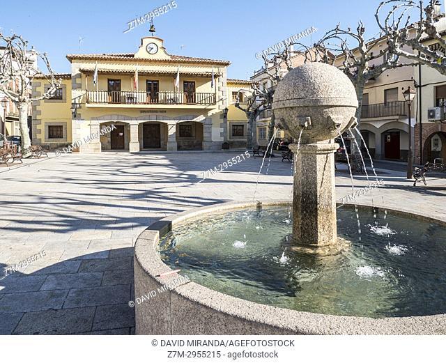 Town Hall. Madrigal de la Vera. Cáceres. Extremadura. Spain