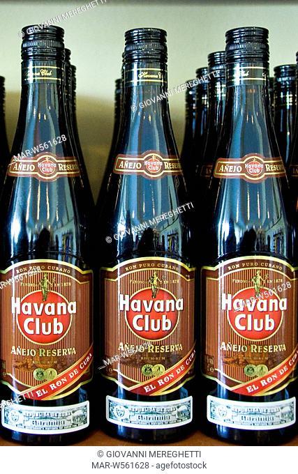 Cuba, Vinales, havana club bottles