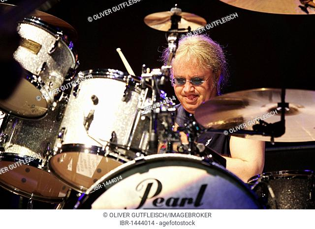 Ian Paice, drummer of the British rock band Deep Purple live at the Spirit of Music open air festival in Uster, Zurich, Switzerland