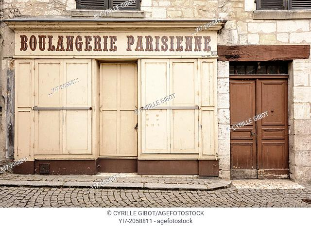 Closed bakery, Saint-Aignan, Loir-et-Cher, Centre, France