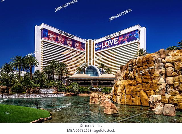 The USA, Nevada, Clark County, Las Vegas, Las Vegas Boulevard, The Strip, The Mirage