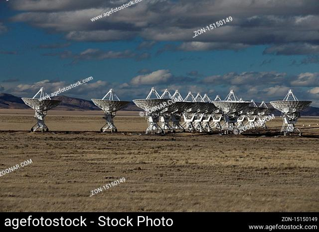 Very Large Array satellite dishes t in New Mexico, USA