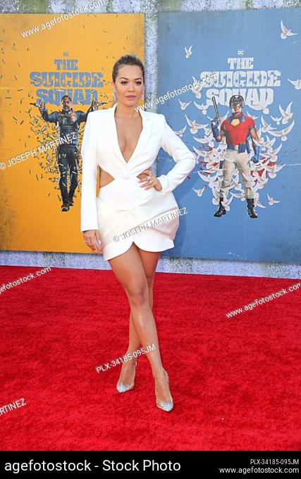 "Rita Ora at """"The Suicide Squad"""" Premiere held at the Regency Village Theatre in Los Angeles, CA, August 2, 2021. Photo Credit: Joseph Martinez / PictureLux"