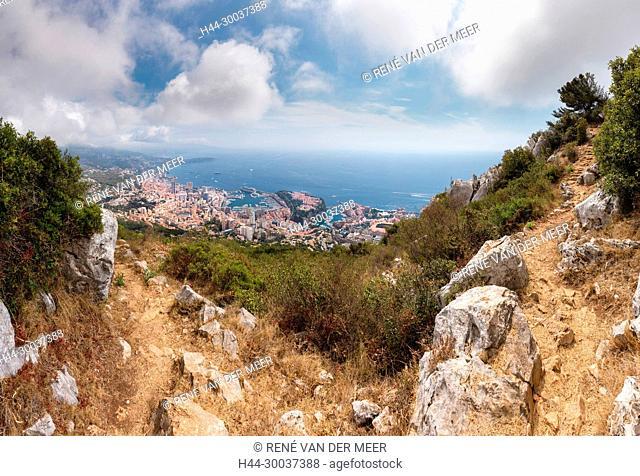 View on Monaco from Tête de Chien