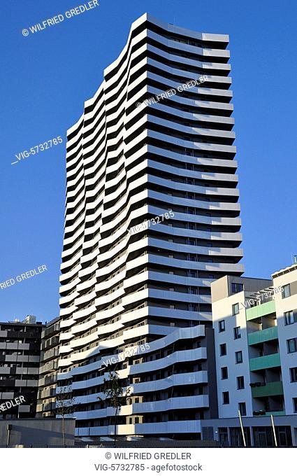 Leopoldtower im Citygate - Modernes Wohnen in der Leopoldau im Norden von Wien, Wohnviertel, Stadtviertel, wohnen, Wohnungen, Wohnviertel, modern, 1220