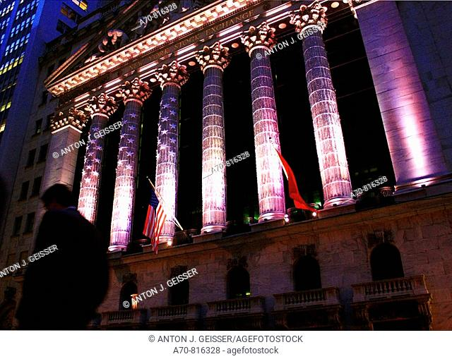 Wall Street Stock Exchange. New York City. USA