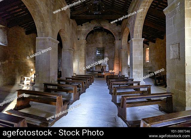 Pienza Val d'Orcia Tuscany Italy. Pieve dei Santi Vito e Modesto a Corsignano church