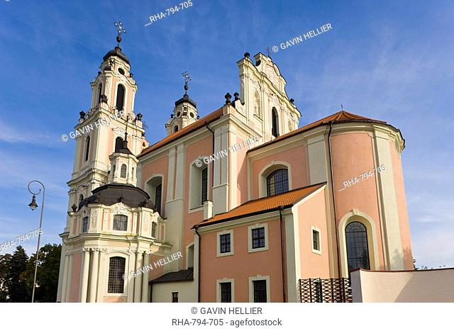 St. Catherine's Church and the Benedictine Nunnery, Vilnius, Lithuania, Baltic States, Europe