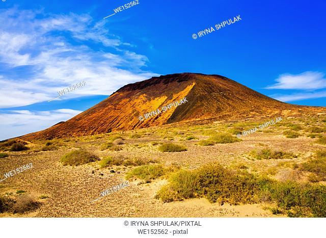 Montana Amarilla, La Graciosa, Lanzarote, Canary Islands, Spain