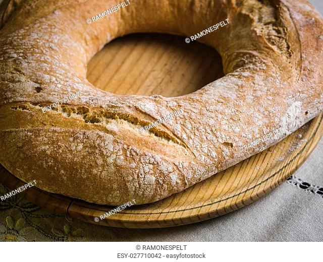 Galician bread. A typical and delicious meal of Galicia, Spain